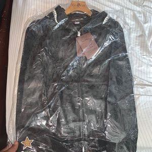 Bape x coach leather jacket